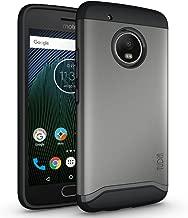 TUDIA Moto G5 Plus Case, Slim-Fit Heavy Duty [Merge] Extreme Protection/Rugged but Slim Dual Layer Case for Motorola Moto G5 Plus (Metallic Slate)