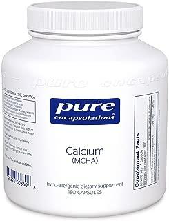 Pure Encapsulations - Calcium MCHA - Hypoallergenic Supplement for Bone Support - 180 Capsules