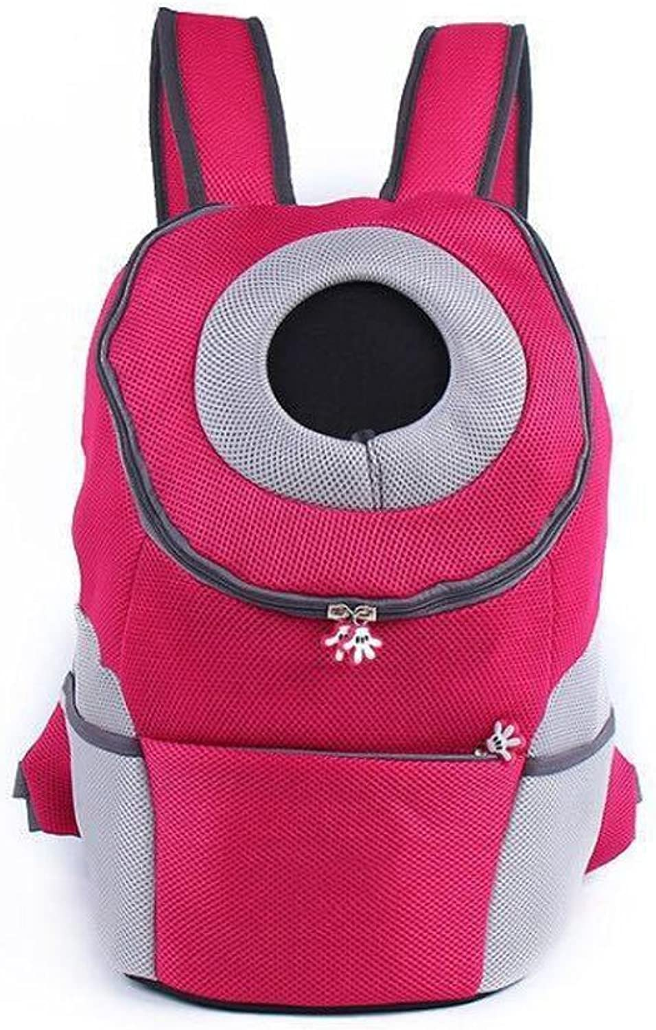 Dixinla Pet Carrier Backpack Outgoing double shoulder bag chest backpack out of pocket oxford cloth