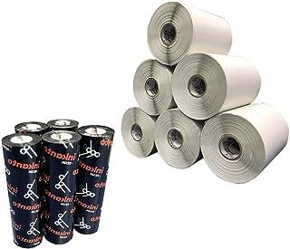 Kit 10 Rolos Etiqueta Bopp 10x15 Cm + 5 Ribbon Resina