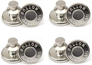 KAUND 8Pcs Replacement Jean Buttons, No Sew Instant Button Detachable Pants Button Pins, Removable Metal Button to Extend ...