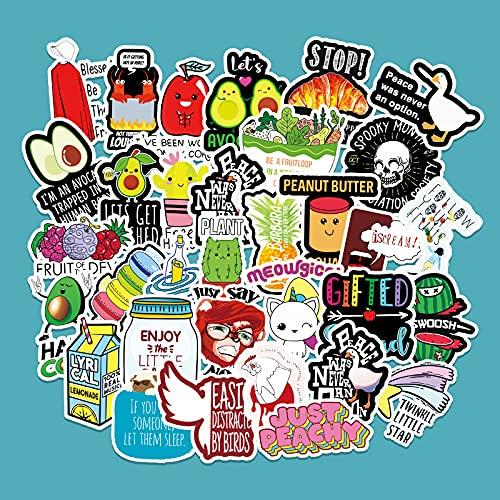 LSPLSP Dibujos animados Vine Line Graffiti Sticker Scooter Computadora Coche Refrigerador Teléfono Móvil Guitarra Decoración Pegatina 100 Hojas