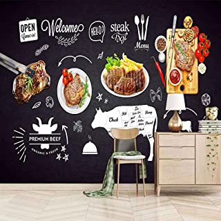 VITICP Adults Kids Wall Stickers Decals Peel and Stick Removable Wallpaper Restaurant Steak Board for Nursery Bedroom Livi...