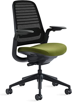 Black Frame and Base 3D Microknit Back Standard Carpet Casters Graphite Steelcase Series 1 Office Desk Chair: 4 Way Ajustable Arms