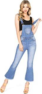 Machine Jeans Women's Juniors Cropped Denim Overalls