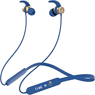 boAt Rockerz 255 Mumbai Indians Edition Wireless Headset with Super Extra Bass, IPX5 Water and Sweat Resistant, Qualcomm C...