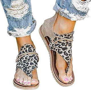 Leopard Sandals-Sandales de gladiateur confortables pour femme