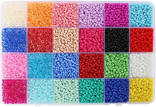 WONDERFORU Beads for Jewelry Making Kit 3mm DIY Beads for Bracelets 6800 PCS Beads for Kids Crafts Adults Girls Boys