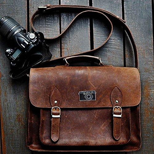 PinMart's Black Camera Photography Lover Enamel Lapel Pin