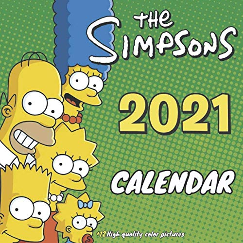 The Simpsons Calendar 2021: Best wall calendar with 24 note pages for all Simpsons lovers.