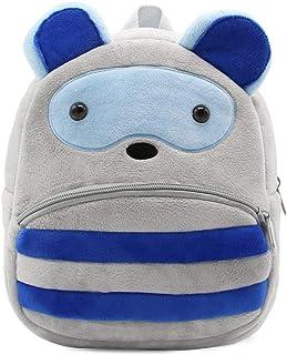 حقيبة ظهر Ladyzone للأطفال الصغار حديقة الحيوانات حقيبة ظهر قطيفة لطيفة حقيبة كتب لمرحلة ما قبل المدرسة للبنات والأولاد من...
