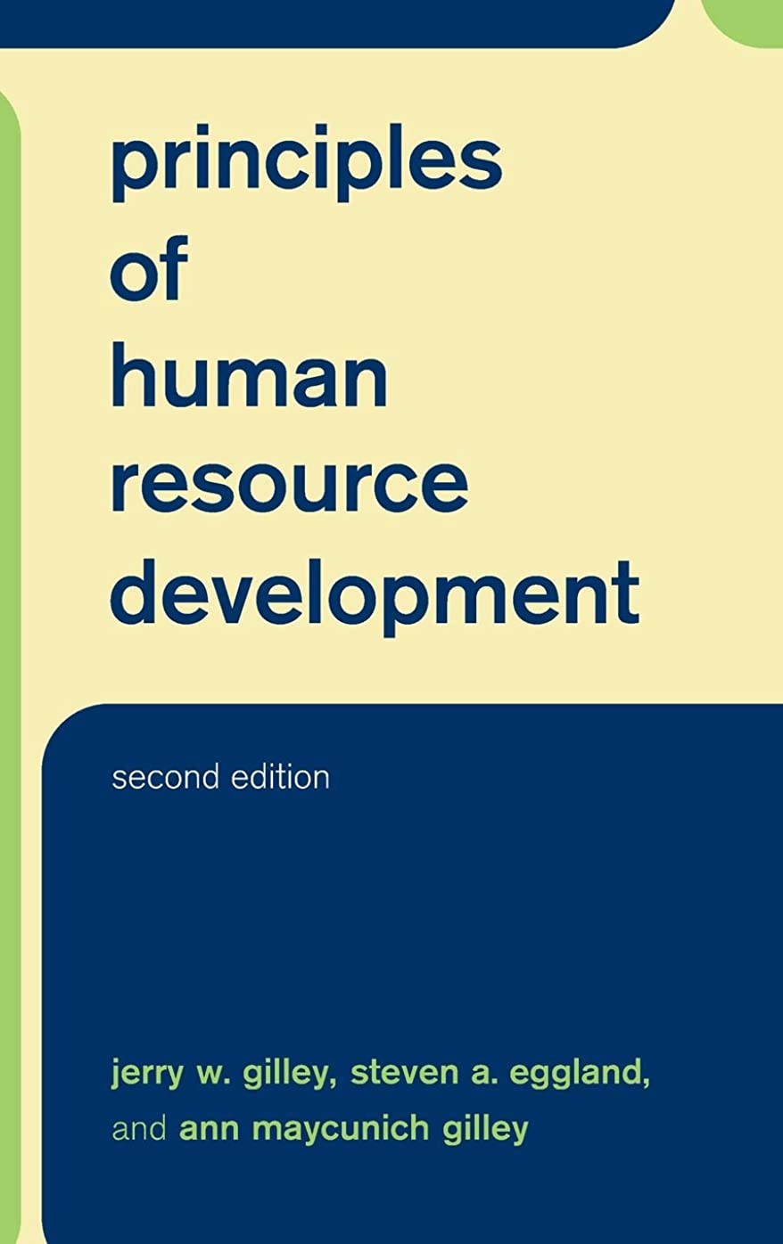 中にイライラするなかなかPrinciples Of Human Resource Development