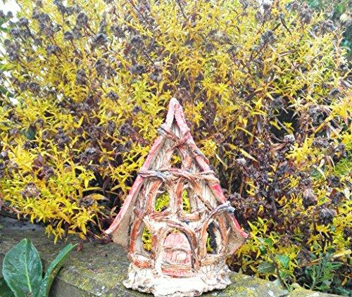 Keramik Windlicht Front Wichtelhäuschen