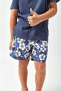 Shorts Hibiscos Bicolor Boys - Estampado