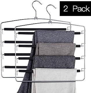 5 tier swing arm pant hangers