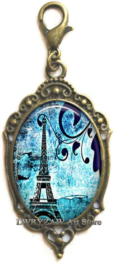 Paris Blues Lobster Low price Clasp Tower Max 79% OFF Jewelry Zipper Pull