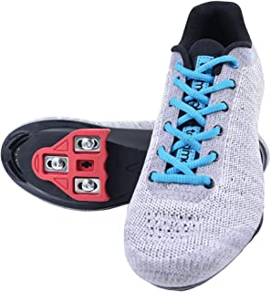 Tommaso Pista Aria Knit Women's Indoor Cycling Class Ready Shoe and Bundle with Compatible Cleat, Look Delta, SPD - Black, Pink, Grey, Blue
