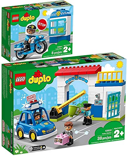LEGO® Duplo 2er Set 10900 10902 Polizeimotorrad + Polizeistation