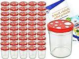 MamboCat Einmachgläser 50er Set Marmeladenglas Sturzglas +