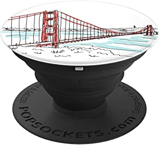 Golden Gate Bridge San Francisco California Illustration - PopSockets Grip and Stand for Phones and Tablets