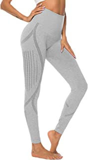 Dawwoti Yoga Tights for Women Soft Yoga Tights Tummy Control Active Pants