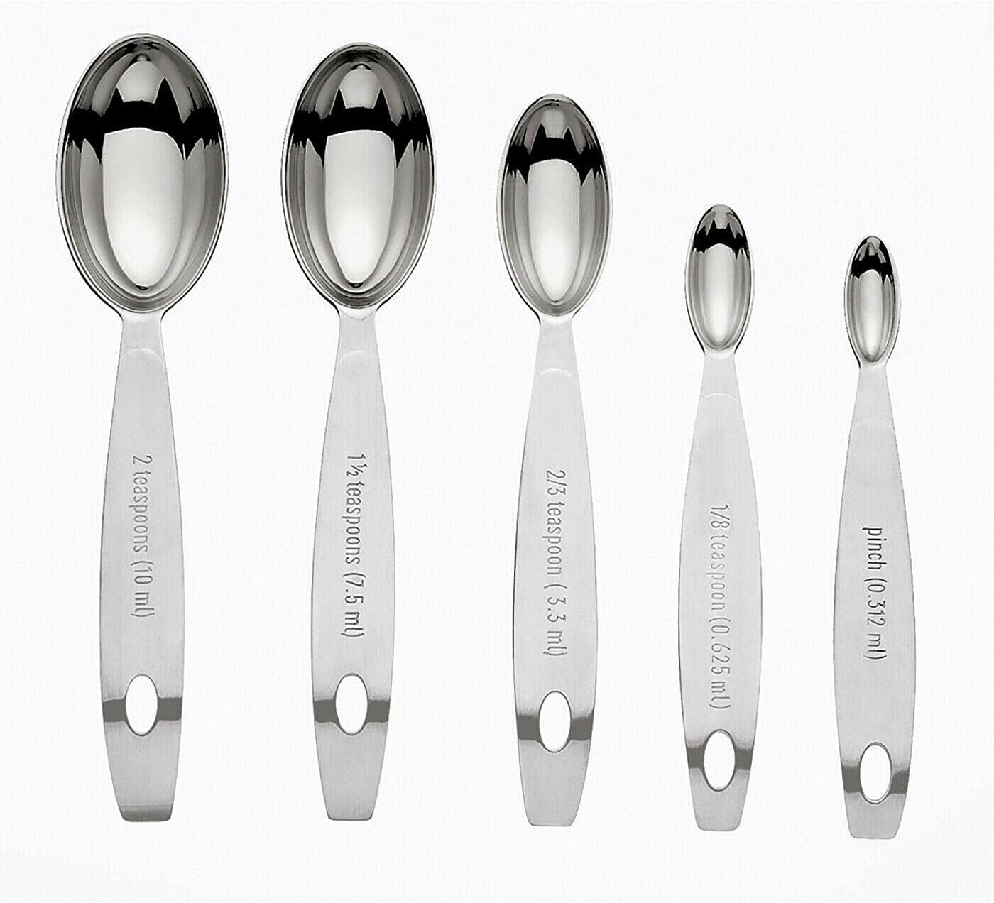 Stainless Steel Ranking TOP14 Odd Size Measuring 5 fo Piece Set Spoons Max 59% OFF