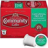 Community Coffee - Café Special Decaf Medium-Dark Roast - 12 Count Single Serve Coffee Pods - Compatible with Keurig 2.0 K Cup Brewers