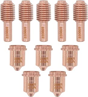 Aftermarket 5 Pcs Plasma Nozzle 220671 + Plasma Electrode Replace 220669