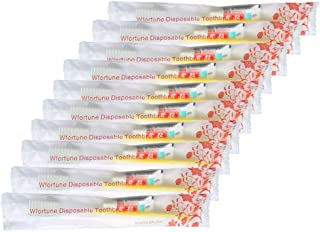 20pcs Disposable Toothbrushes with Toothpaste (5 Colors)