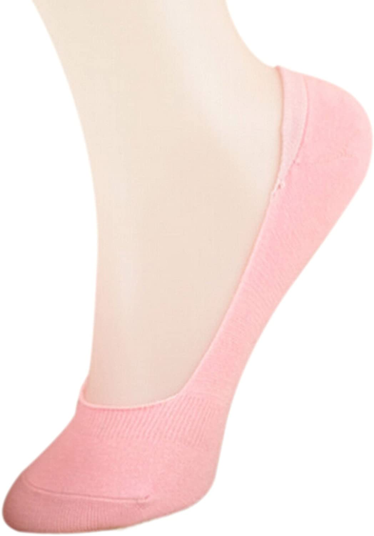 Easting Women's No-Show Low-Cut Sock Liners, 5-Pack (Random Color)