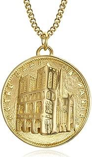 Notre Dame de Guadalupe religieux mexicain Médaillon Collier 18K Or Plaqué Laiton