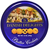 Gourmet Food Gifts! - Sherwood DANISH DELIGHTS Butter Cookies, In a Nice Gifting Tin, box (340g).