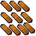 AB Tools Amber Large Rectangular Side Reflector Pack of 10 Trailer Fence Gate Post TR067