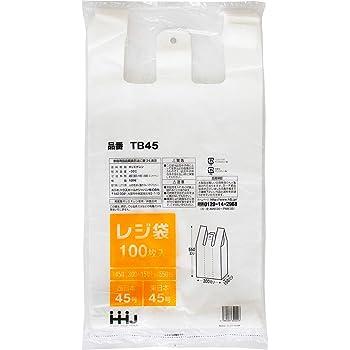 レジ袋 半透明 東西日本45号 厚さ0.017mm 100枚 TB-45