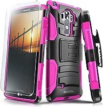 LG G Vista 2 Case, Evocel [Generation Series] Belt Clip Holster, Kickstand, HD Screen Protector, Dual Layer for LG G Vista 2 H740 (2015 Release), Pink (EVO-LGV2-AB205)