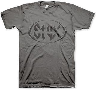 Styx Officially Licensed Logo Mens T-Shirt (Dark Grey)