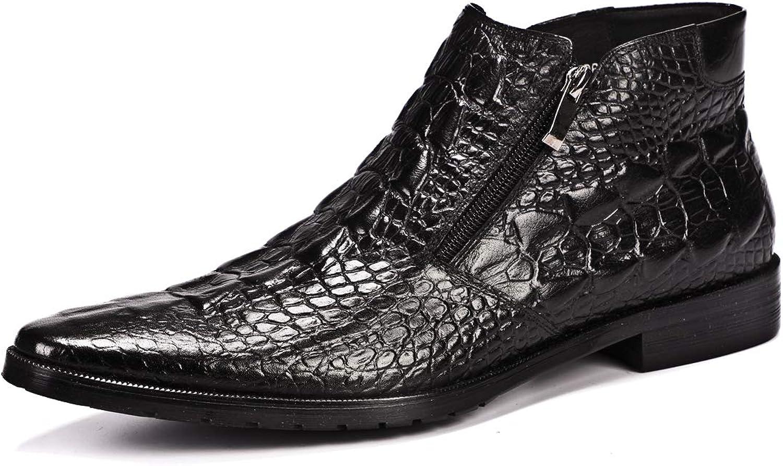 XLY XLY XLY mode Martin stövlar män Genuine läder England s spetsiga krokodilmönster mäns stövlar Uppställning av fötter Hög affärs vinterstövlar  kvalitetsprodukt