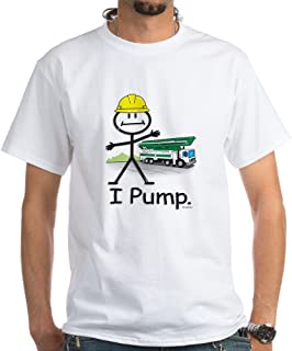 CafePress Concrete Pumping White T-Shirt Cotton T-Shirt