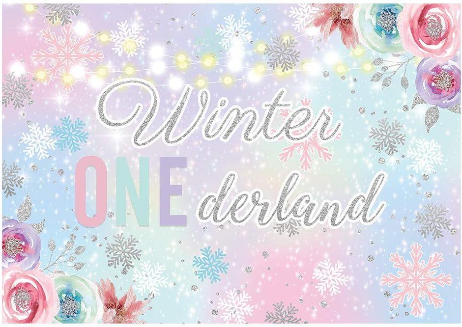 Funnytree Discount mail order 7x5ft Winter Onederland Wonderland Popular standard Backdrop for Baby G