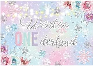 winter onederland photo backdrop