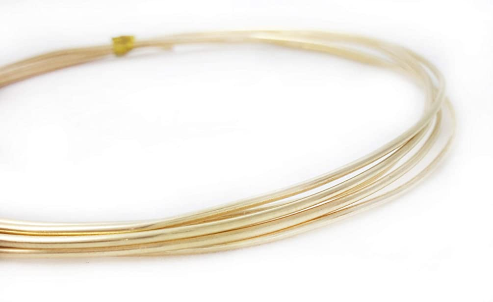 1 Ounce (2 Ft) Solid Red Brass Wire 10 Gauge, Round, Dead Soft - from Craft Wire