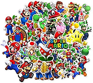 Labeol 100 Pack Super Mario Bros Cartoon Stickers Waterproof Stickers for Waterbottle,Laptop,Phone,Bicycle Motorcycle Car ...
