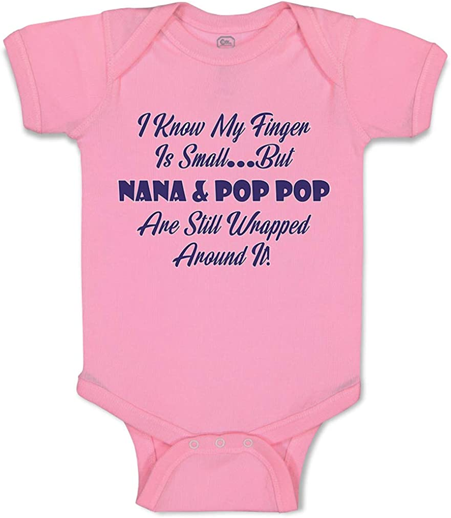 Fresno Mall Custom trend rank Baby Bodysuit I Know My Finger and Small. but Pop Nana Fu