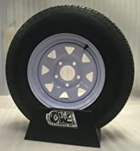 New15 Inch 5 on 5 White Spoke Trailer Wheel Mounted with St205 75 D15 Bias Ply Tire