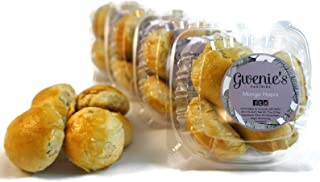 Gwenie's Pastries, Mongo Hopia (4 Pack/5 pieces per pack) Filipino baked goods, Asian snack, pastry for party event gift for men or women