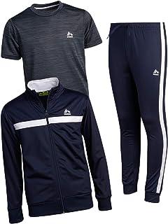 RBX Boy's Activewear Tracksuit Set - Zip-Up Performance Sweatshirt, Jogger Sweatpants, and T-Shirt