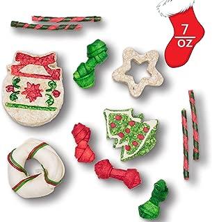 MON2SUN Christmas Dog Rawhide Holiday Stocking for Dogs