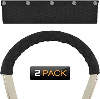 Geekria ヘッドバンドカバー Sony WI-1000X, Bose QC30, Sennheiser MOMENTUM In-Ear Wireless, JVC HA-FD70BT 等ネックバンド型のヘッドセット用 保護 毛糸編み (2PCS)