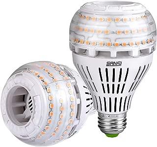 27W (250 Watt Equivalent) A21 Dimmable LED Light Bulbs, Super Bright 4000 Lumens, 3000K Soft Warm White Bulb, 270° Omni-Directional Light, E26 Base LED Floodlight, 5-Year Warranty, SANSI (2 Pack)