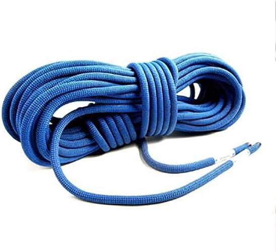 LBYMYB Corde d 'Escalade Statique Vitesse Vitesse de Chute Corde de Corde en Nylon diamètre 9 10   10.5mm Longueur 10 20 30 40 50   100m Bleu Corde d'escalade (Taille   10mm 10m)